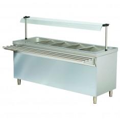 Stanowisko chłodnicze z ladą sałatkową z podstawą otwartą RS718FN - 1800x700x1245 - 5GN1/1